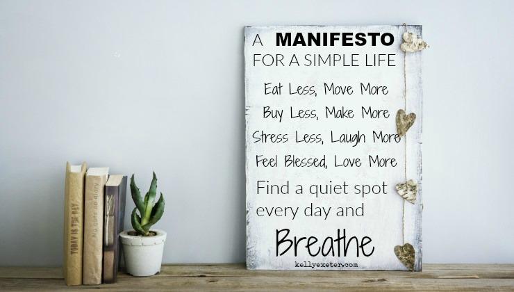 manifesto simple life